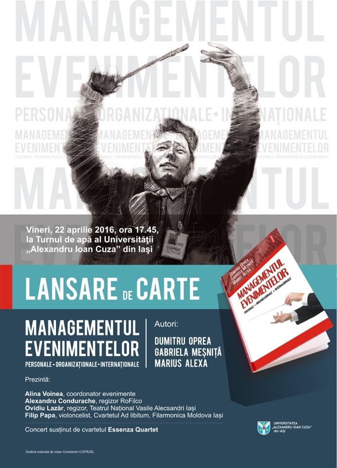 lansare de carte managementul evenimentelor