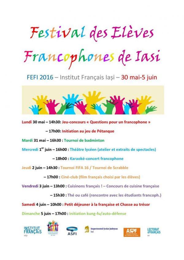 festival elevi francofoni