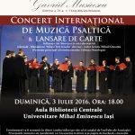 Lansare de carte si Concert International de Muzica Psaltica