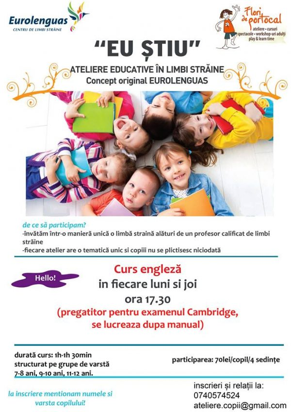 ateliere educative limbi straine