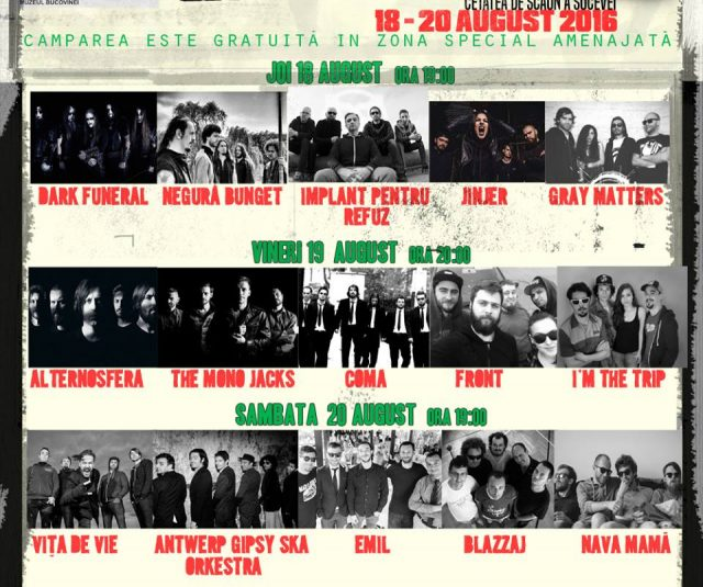 program bucovina rock castle 2016