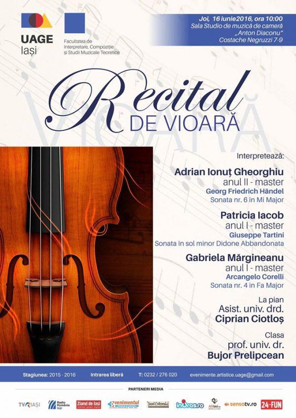 recital vioara uage iasi