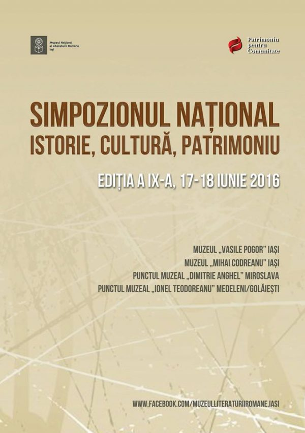 simpozion istorie cultura patrimoniu