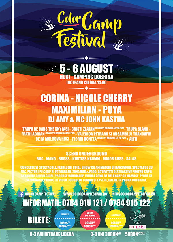 color camp festival - poster