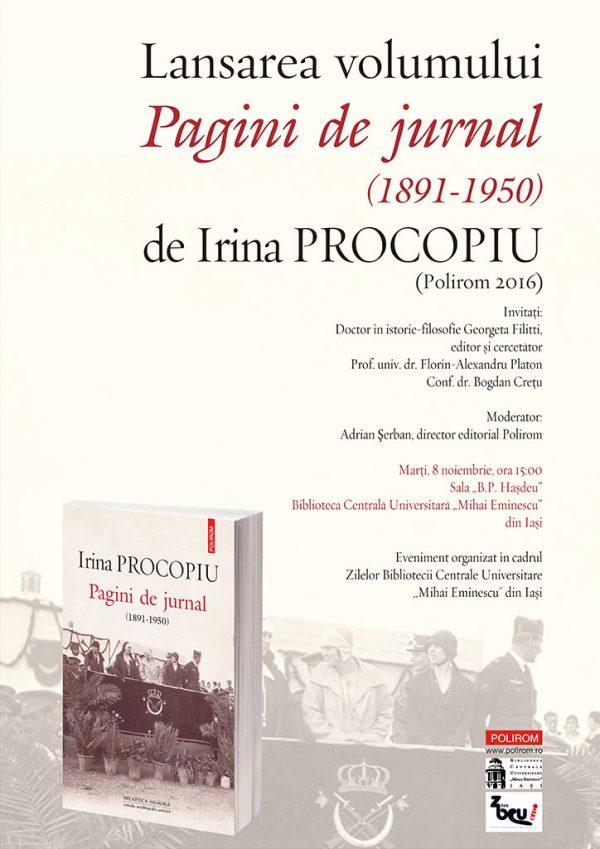 afis_pagini_de_jurnal_irina_procopiu_iasi