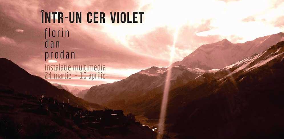 """""""Intr-un cer violet"""" – instalatie multimedia @Meru iasi"""