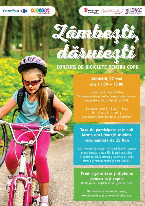 Evenimente pe bicicleta pentru copii