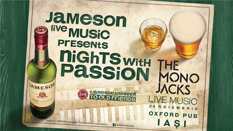 Jameson Live Music continuă cu trupa The Mono Jacks