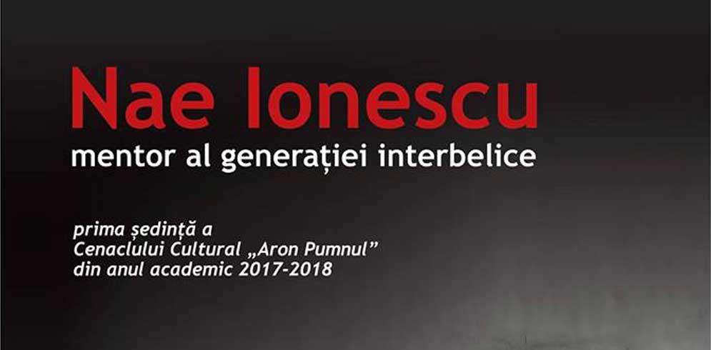 Nae Ionescu – mentor al generatiei interbelice