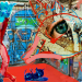 """Expoziția de colaje """"Jocul de-a apocalipsa"""" la sediul ICR Tel Aviv"""