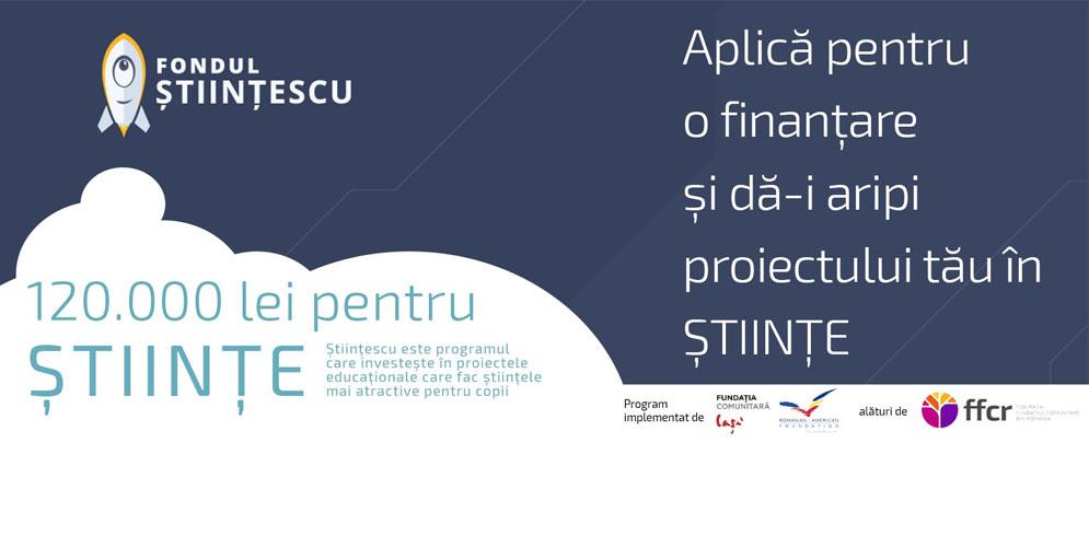 120.000 lei pentru științele exacte: Fundația Comunitară Iași a lansat concursul de proiecte – Științescu Iași – anul 4